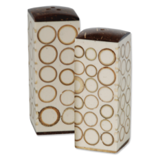 Salt & Pepper Shakers- Bamboo Inlay-Natural (Indonesia)