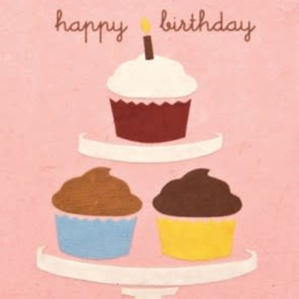 Greeting Card- Birthday Cupcakes
