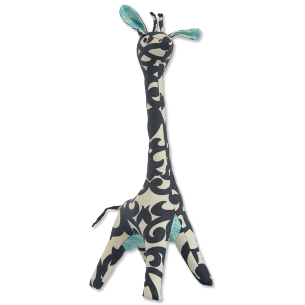 Giraffe- Patchwork-Scrappy-Indigo-100% Cotton-Mama (Indonesia)