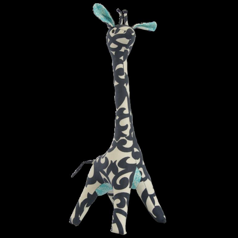 Giraffe- Patchwork-Scrappy-Indigo-100% Cotton-Mama (Indonesia)