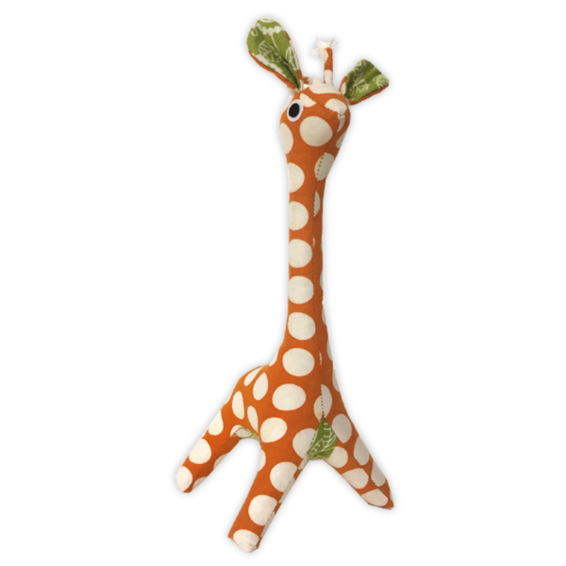 Giraffe- Patchwork-Scrappy-Orange-100% Cotton-Baby (Indonesia)
