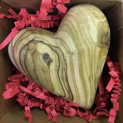 Olive Wood Heart- Large (Bethlehem)