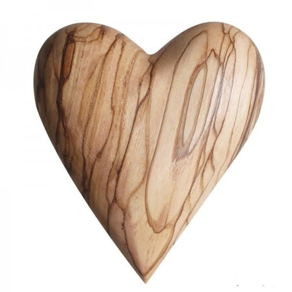 Olive Wood Heart-Small (Bethlehem)