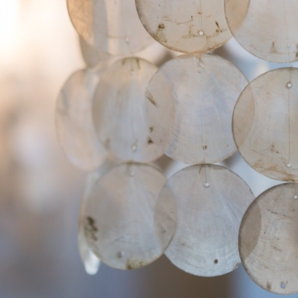 Capiz Shell Chandelier- Natural-Large (Indonesia)