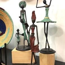 Sculpture- Well Read-Bronze (Burkina Faso)