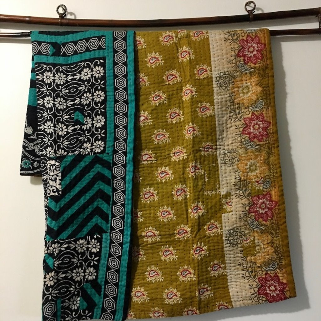 Kantha Baby Blanket