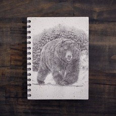 Notebook- Grizzly Bear Sketch-Large (Sri Lanka)