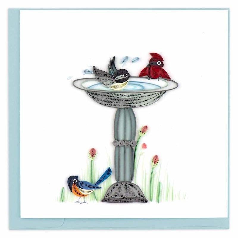 Quilling Cards- Bird Bath (Vietnam)