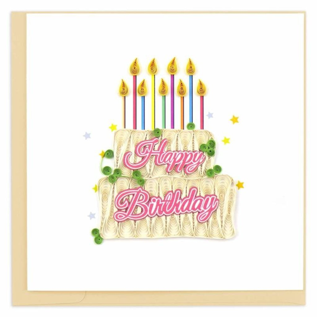 Quilling Cards- Happy Birthday Cake (Vietnam)