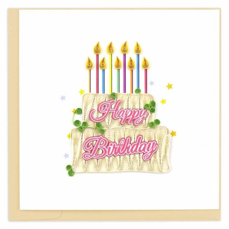 Quilling Cards- Happy Birthday Cake (Vietnam)