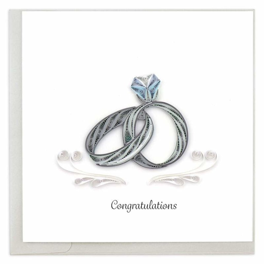 Quilling Cards- Wedding Rings  (Vietnam)