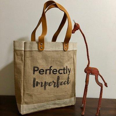 Bag- Tote-100% Jute-Perfectly Imperfect (Bangladesh)