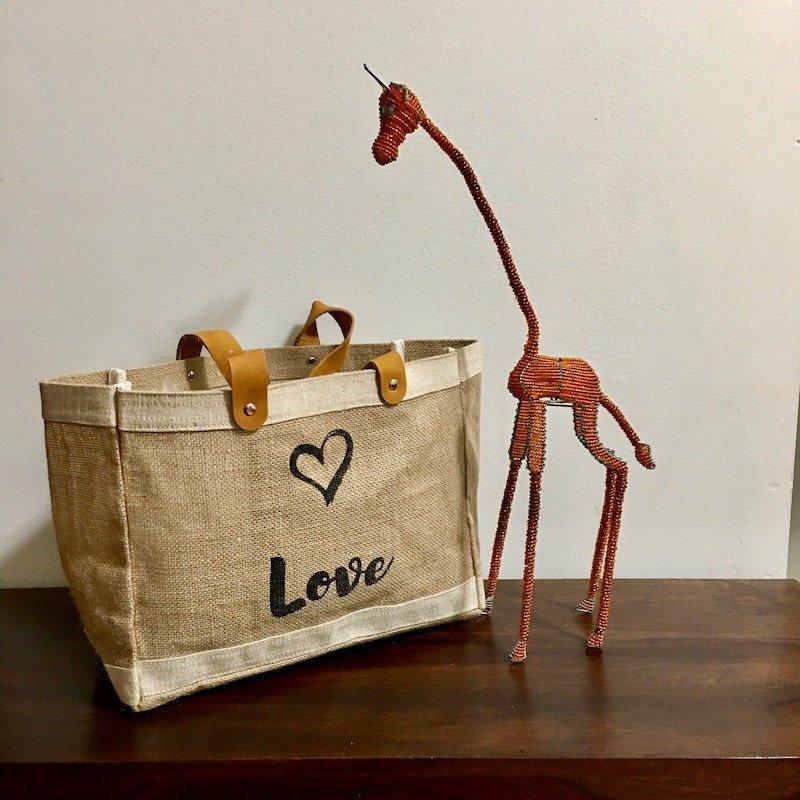 Bag- Mini Market-100% Jute-Peace & Love (Bangladesh)