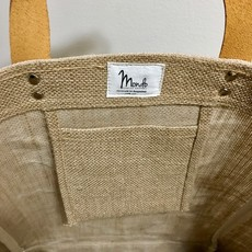 Bag- Mini Market-100% Jute-Peace & Love (Bangladesh)