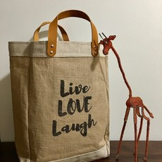 Bag- Market-100% Jute-Live Love Laugh (Bangladesh)