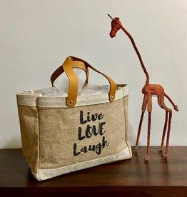 Bag- Mini Market-100% Jute-Live Love Laugh (Bangladesh)