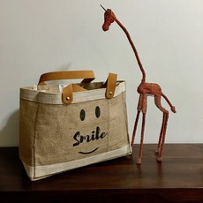Bag- Mini Market-100% Jute-Smile Be Happy (Bangladesh)