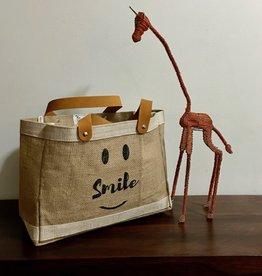 Bag- Mini Market-100% Jute-Smile Be Happy (Bangladesh)