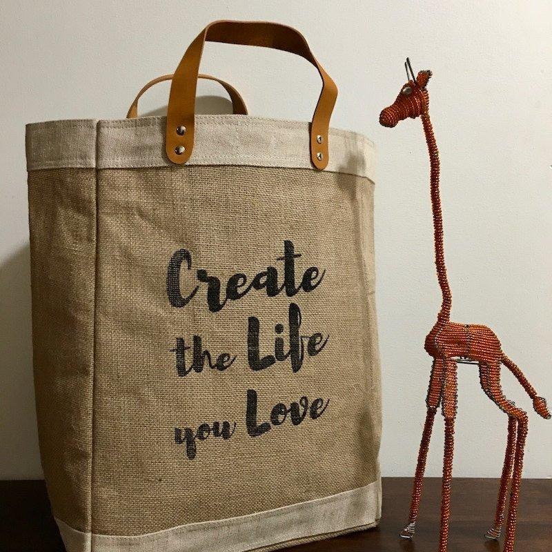 Bag- Market-100% Jute-Create The Life You Love (Bangladesh)