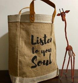 Bag- Market-100% Jute-Listen To Your Soul (Bangladesh)