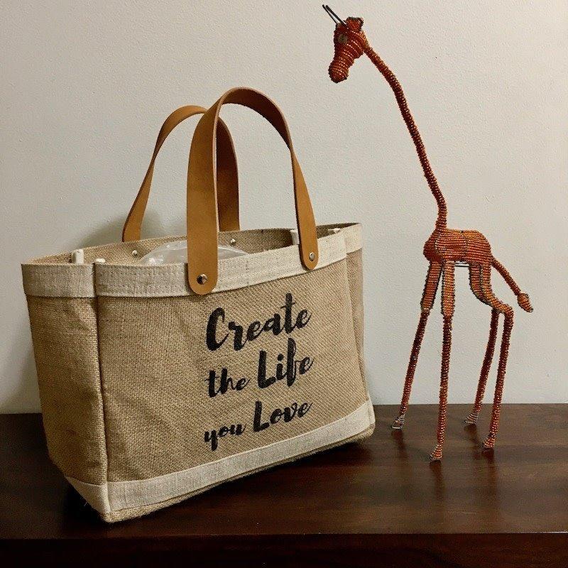 Bag- Mini Market-100% Jute-Create The Life You Love (Bangladesh)