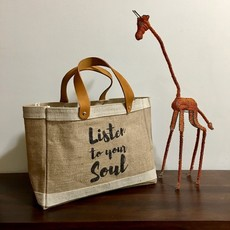 Bag- Mini Market-100% Jute-Listen To Your Soul (Bangladesh)