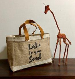 Bag- Mini Market-100% Jute-Listen To Your Soul (Bangladesh)