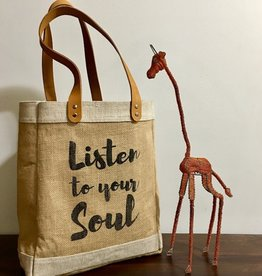 Bag- Tote-100% Jute-Listen To Your Soul (Bangladesh)
