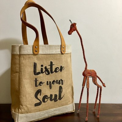 Bag- Tote-100% Jute-Listen To Your Soul (Bangladesh)