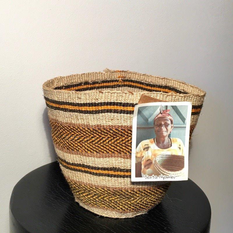 WS- Sisal Kiondo Basket-Fine Weave-Small (Kenya)