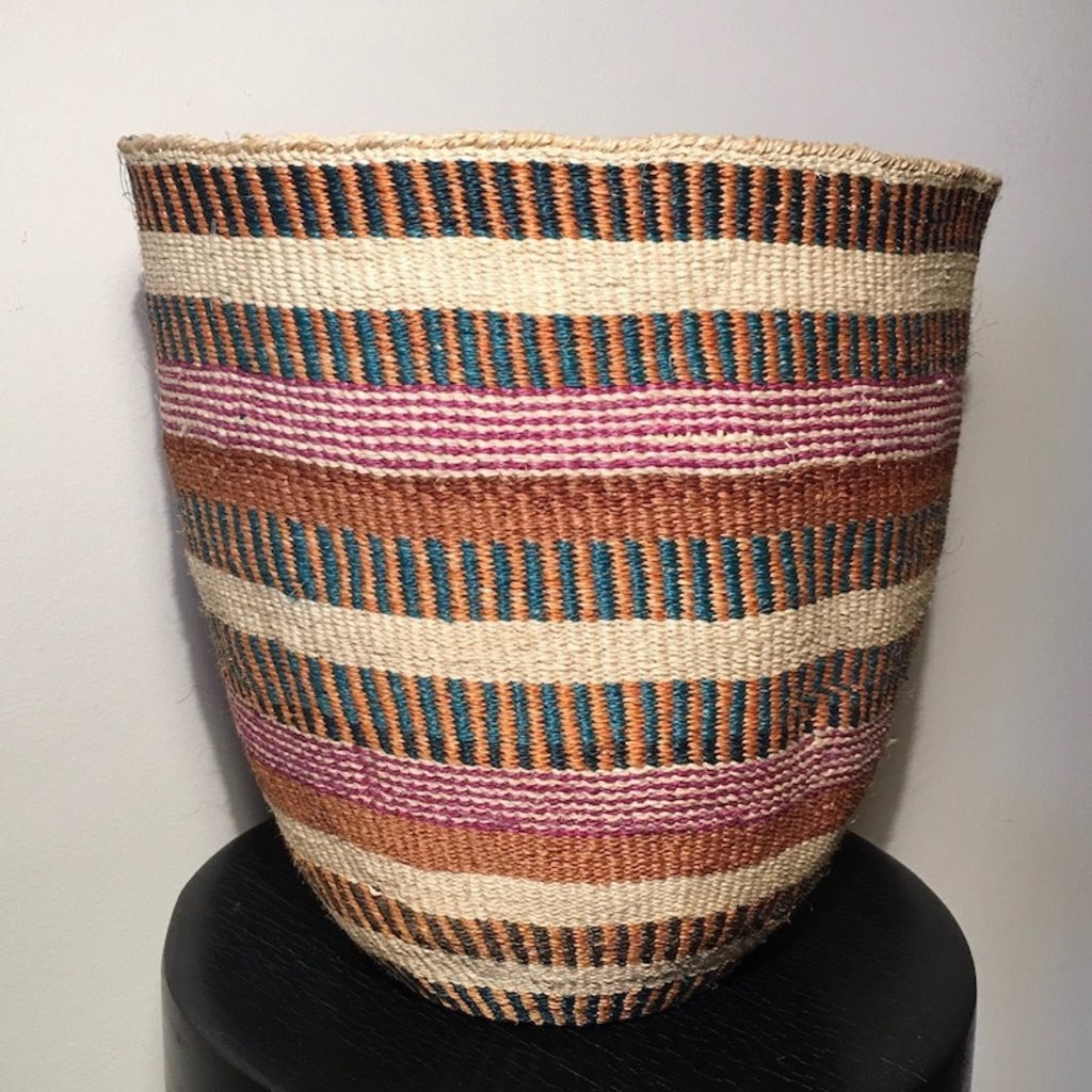 WS- Sisal Kiondo Basket- Fine Weave-Large (Kenya)