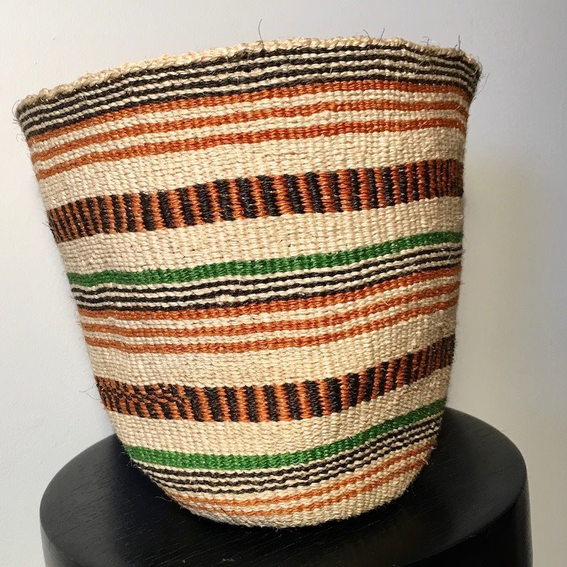 WS- Sisal Kiondo Basket- Fine Weave-Medium (Kenya)