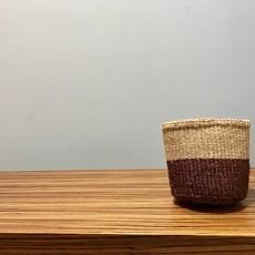 "Sisal Basket- Brown-5"" x 5"" (Kenya)"