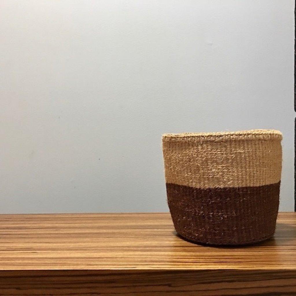"Sisal Basket- Brown-7""x7"" (Kenya)"