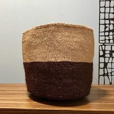 "Sisal Basket- Brown-11"" x 11"" (Kenya)"