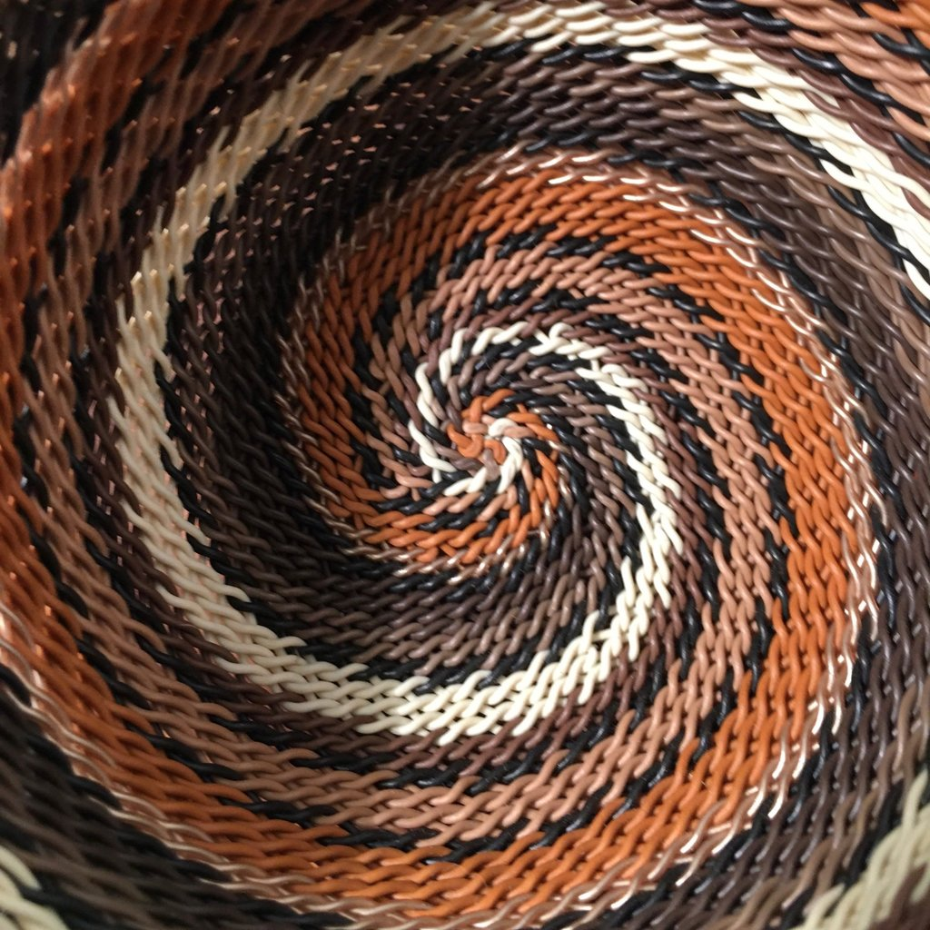"""Bowl- Recycle Telephone Wire-Round- 4"""" (South Africa)"""