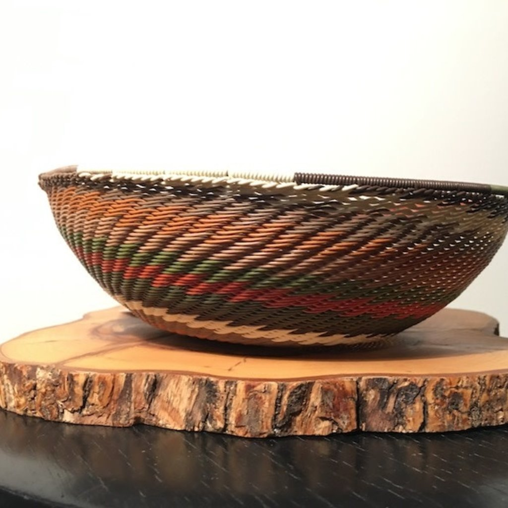 "Bowl- Recycle Telephone Wire-Round-7"" (South Africa)"