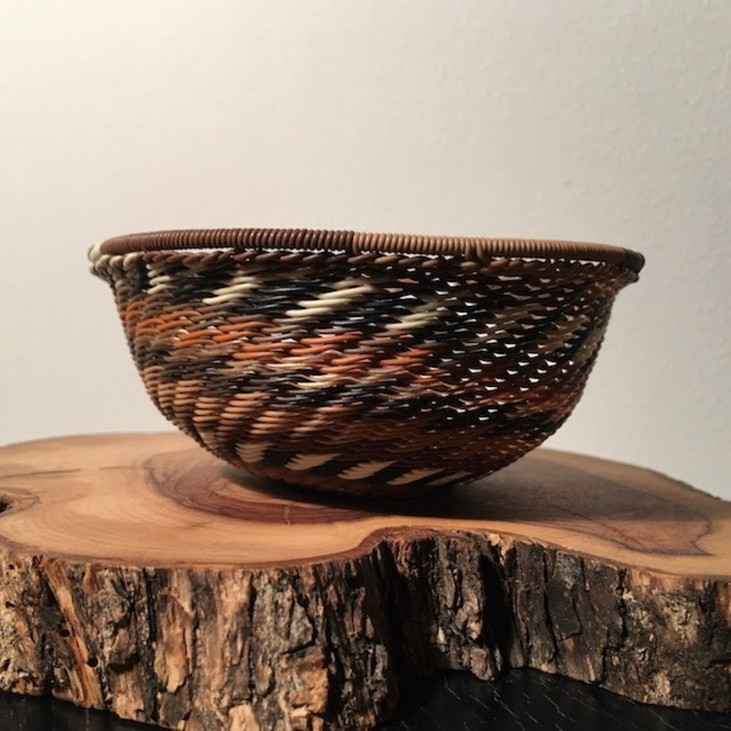 """Bowl- Recycle-Telephone Wire-Round- 4"""" (South Africa)"""