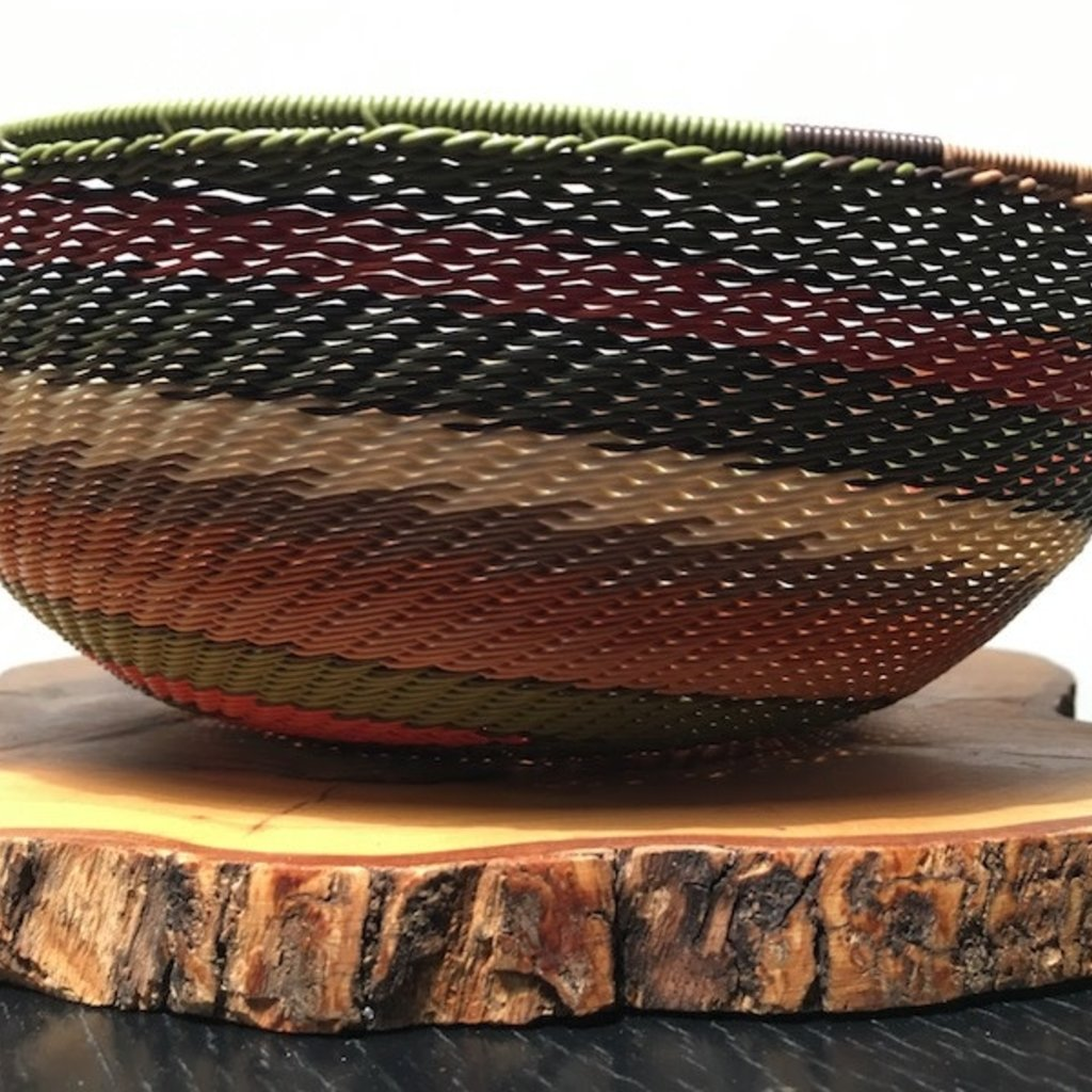 """WS-Bowl- Recycle Telephone Wire-Round-8"""" (South Africa)"""