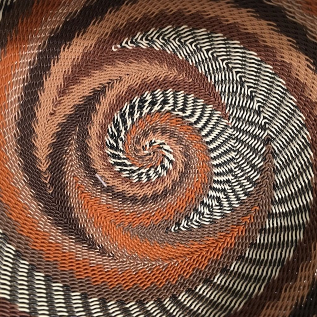 """Bowl- Recycle Telephone Wire-Round-8"""" (South Africa)"""