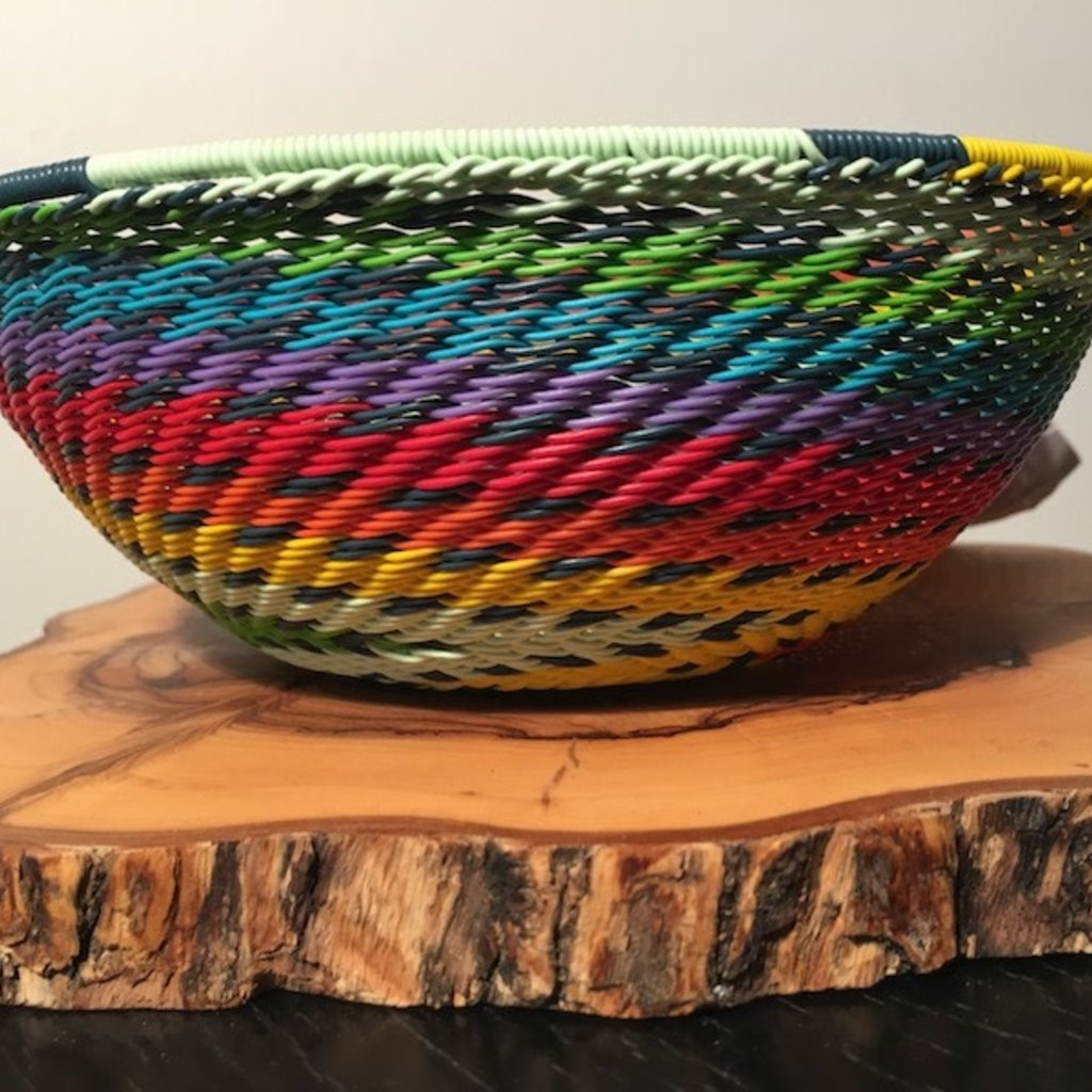 """Bowl- Recycle Telephone Wire-Round-6.5"""" (South Africa)"""