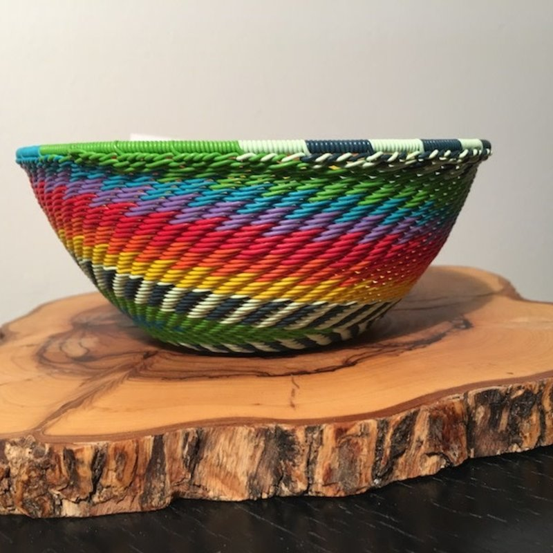 """Bowl- Recycle Telephone Wire-Round-5 .5"""" (South Africa)"""