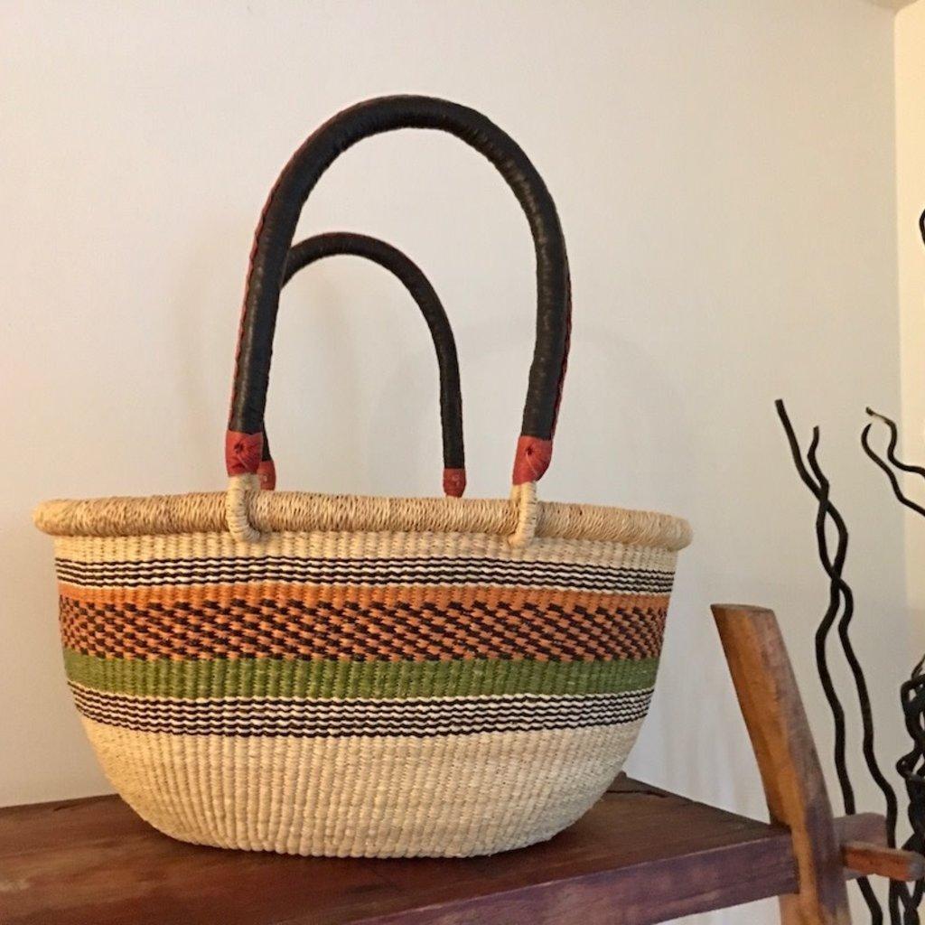 WS- Bolga Basket- Oval-Large (Ghana)