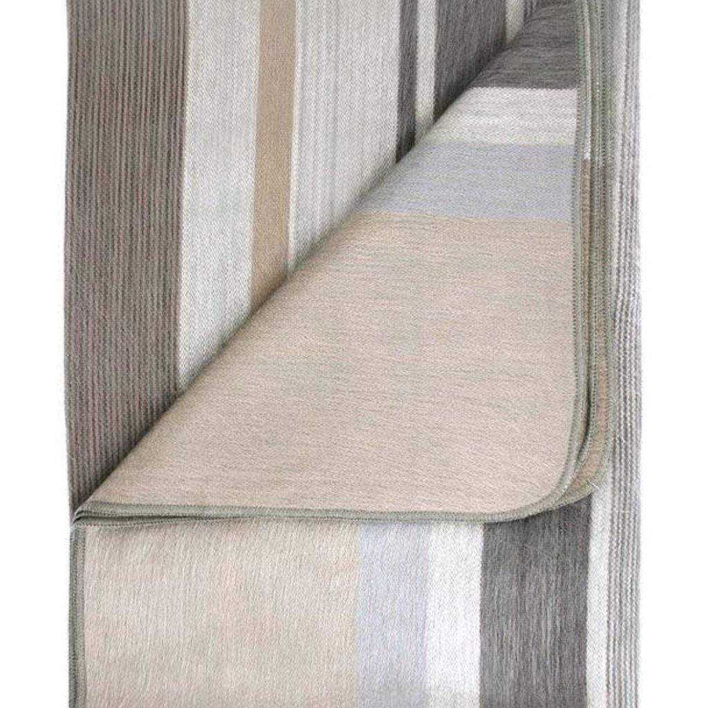 """Blanket-Vintage Pearl-Alpaca-70"""" x 90"""" (Ecuador)"""