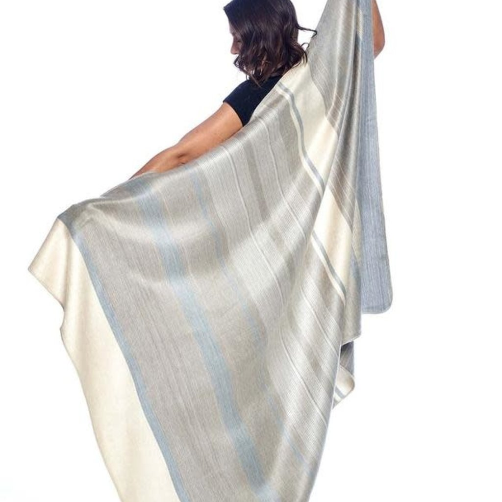 "Blanket-Silver Birch-Alpaca-70"" x 90"" (Ecuador)"