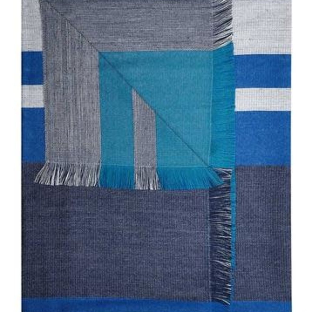 Throw- Reversible-Blue Nile-Baby Alpaca-50 x 70  (Peru)