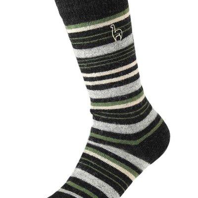 Socks- Alpaca-Stripe-Moss-Large (Peru)