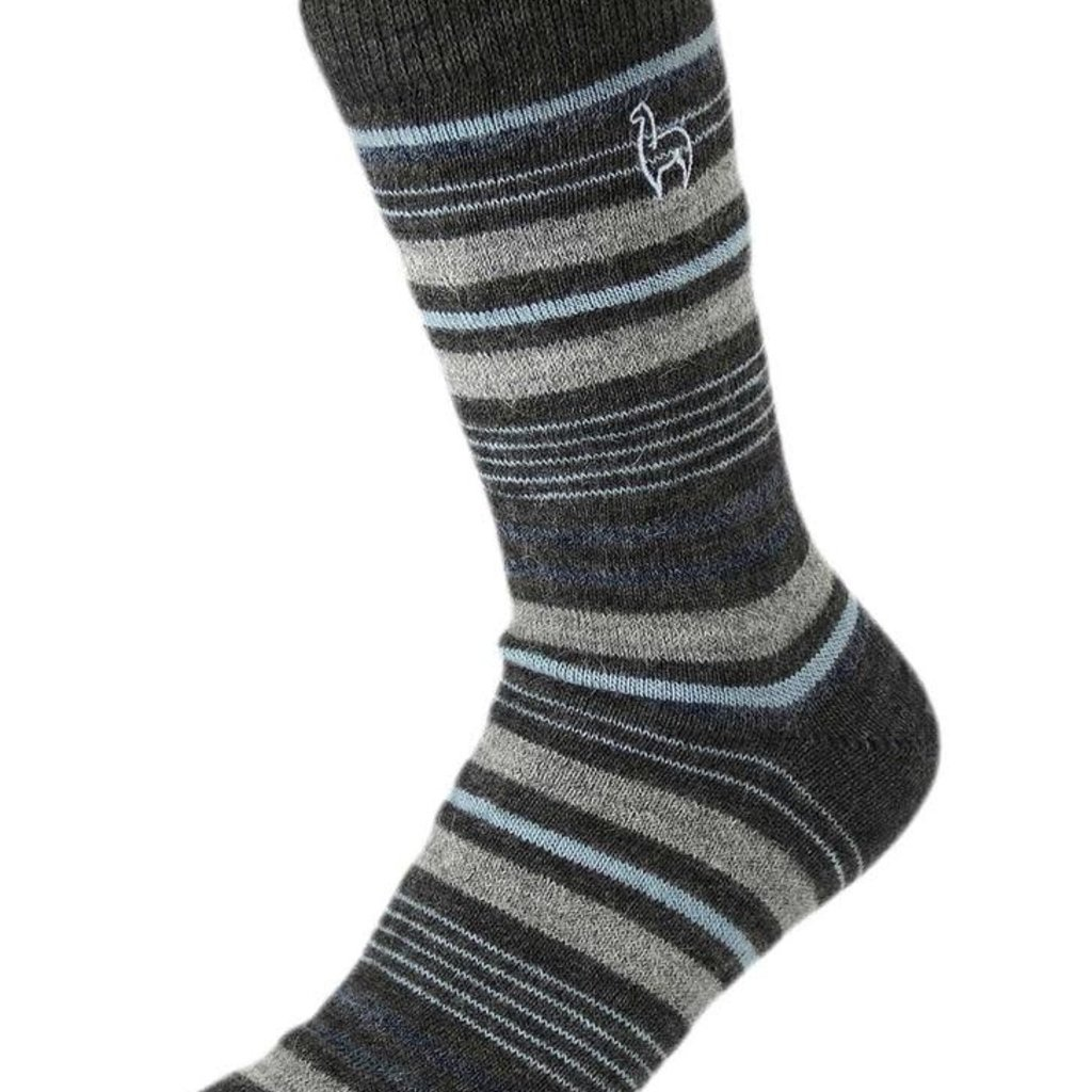 Socks- Alpaca-Stripe-Azul-Large (Peru)