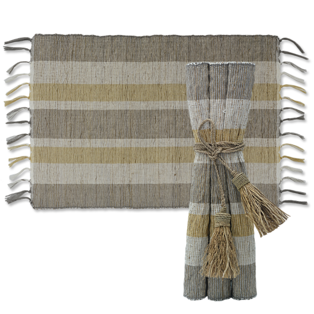 Placemats- Vetiver-Indian Summer-Set/6  (Indonesia)
