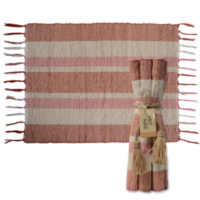 Placemats- Vetiver-Autumn-Blush-Set/6 (Indonesia)